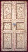 ancient thai style paiting door - stock photo