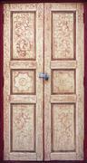 Ancient thai style paiting door Stock Photos