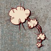 Doodle comic explosion Stock Illustration