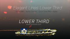 Elegant Lines Lower Third (7 pack) Stock After Effects