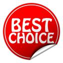 Stock Illustration of best choice round red sticker on white background