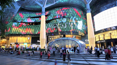 ION Singapore shopping mall evening time lapse Stock Footage