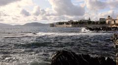 Sardinia, Alghero, Capo Caccia. Seascape. Stock Footage