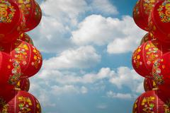 Stock Photo of chainese lanterns, chainese new year