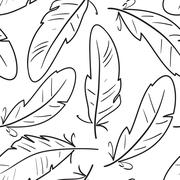 quill pattern - stock illustration