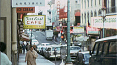 SAN FRANCISCO Street Scenes Bay Area CA 1970s Vintage Film Home Movie 7541 Stock Footage