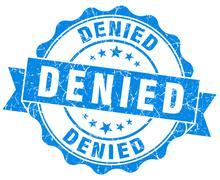 Denied blue grunge stamp Stock Illustration