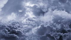 Moving 3D clouds Stock Footage