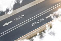 Failure success street direction Stock Illustration