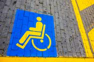 Stock Photo of disabled only