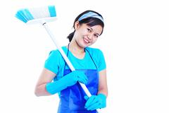 lady housekeeper - stock photo