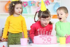 Stock Photo of birthday party