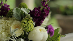 Purple bridal bride's bouquet 1 - stock footage