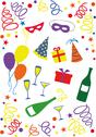 Stock Illustration of celebration icons