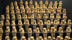 Egyptian mummies kept in the Vatican Museums Stock Footage