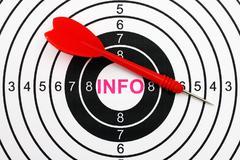 Stock Photo of info target