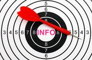 Stock Photo of info target