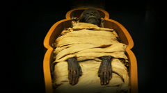 Ancient Egyptian mummy Stock Footage