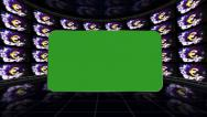 Euro Symbol and Green Screen Monitors in Room, Loop Stock Footage