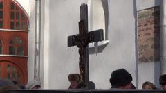 Ukraine, holiday Christening - stock footage