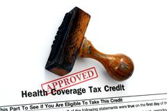 Health tax credit - approved Stock Photos