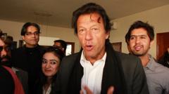 Imran Khan at a Meeting in Karachi Stock Footage