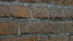 Red brick wall - stock footage
