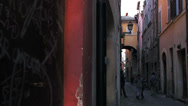 Stock Video Footage of pictorial old streets of Rome, Italy. Retro style