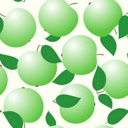 Abstract backgrounds with green apples Stock Illustration