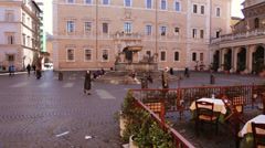 Piazza di Santa Maria in Trastevere Stock Footage