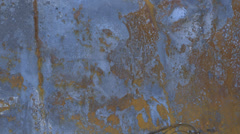Flat Rusted Steel Texture Background High Definition Metal Stock Footage