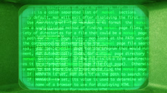 Computer code and programming information Stock Footage