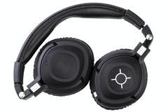 Stock Photo of wireless bluetooth travel headphones