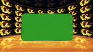Sterling Symbol and Green Screen Monitors in Room, Loop Stock Footage