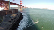 Stock Video Footage of Golden Gate Aerial