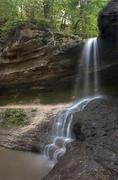 Small blurred waterfall Stock Photos