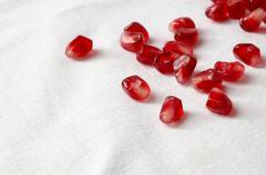 Pomegranate seeds Stock Photos
