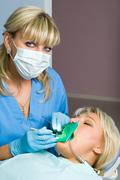Dentistry, tooth cavity stopping Stock Photos