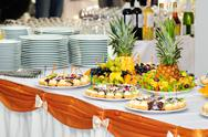 Stock Photo of banquet dessert table