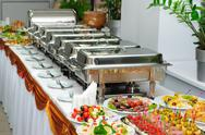 Stock Photo of banquet table