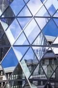 Architecture of London, business district, 30 St Mary Axe Stock Photos