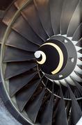 Airplane's jet engine Stock Photos