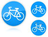 Stock Illustration of variants a bicycle path - road sign