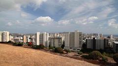 Honolulu Skyline Pan, Oahu, Hawaii (Cities) Stock Footage