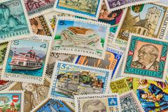 austrian stamps - stock photo