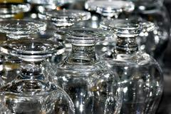 Group of glasses reversed Stock Photos