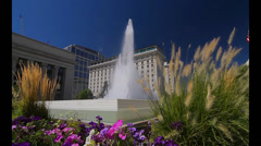 Fountain, Temple Square, S State St, Salt Lake City (Cities) Stock Footage