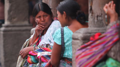 Guatemalan women Stock Footage