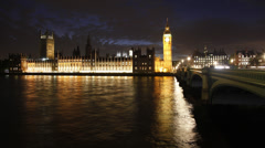 Houses of Parliament time lapse Stock Footage