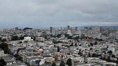San Francisco Skyline, Pan (Cities) Stock Footage